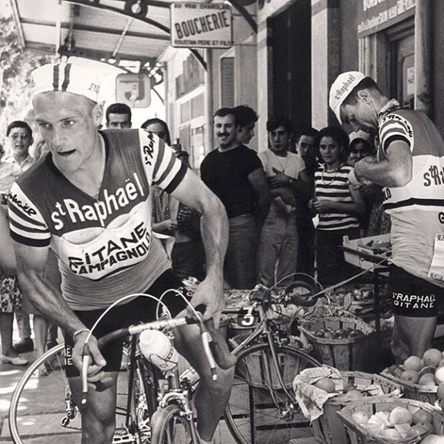 """Classic photos from """"Shoulder to Shoulder: Bicycle Racing in the Age of Anquetil,"""" a new VeloPress book, now online. Link in profile."""