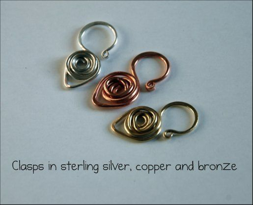 spiral wire clasp tutorial in any wire. #wire #jewelry #tutorial