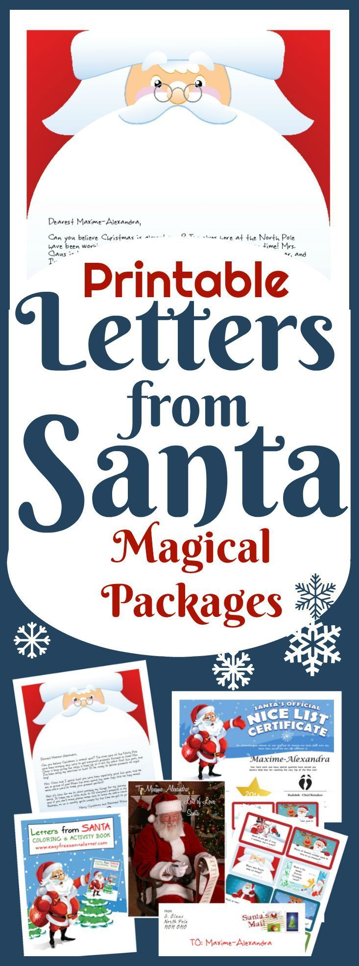 Has Santa been too busy to write back? Have a lovely printable Santa Letter in your hands in less than 5 miinutes! 20+  designs to choose from. Free Letters from Santa too! And quicker than magic Elf dust!