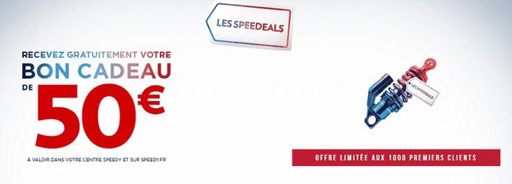 Speedy : recevez gratuitement un bon de réduction de 50 €