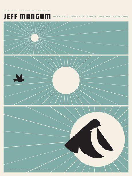 Jeff Mangum concert poster by Jason munn