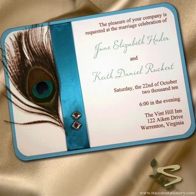 25 Best Ideas About Peacock Wedding Invitations On Pinterest