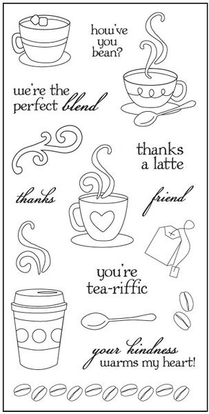 """Latte Love - 4"""" x 8"""" Clear Stamps #draw #printable"""