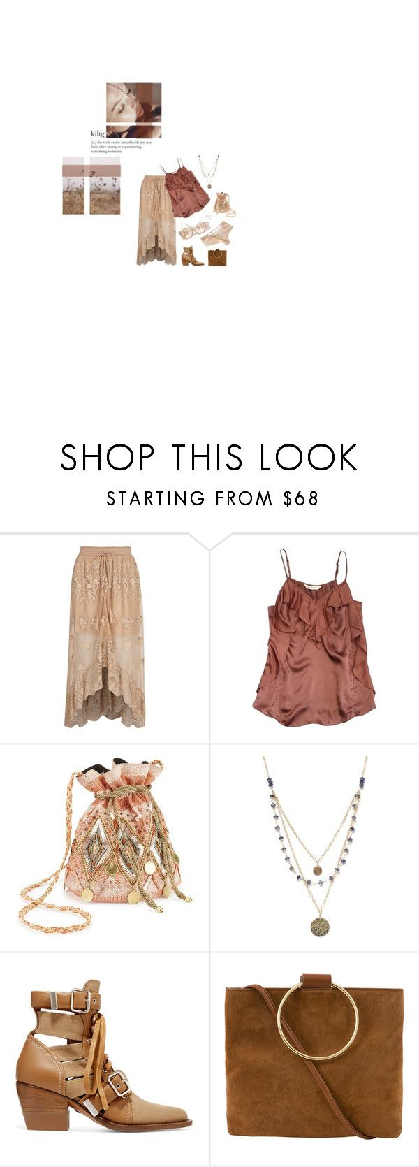 """""""Kiss mE on tHe chEek and sAy gOOd- bYe"""" by nadinekenific ❤ liked on Polyvore featuring River Island, Rebecca Taylor, Miss Selfridge, Alicia Marilyn Designs, Chloé and Thacker"""