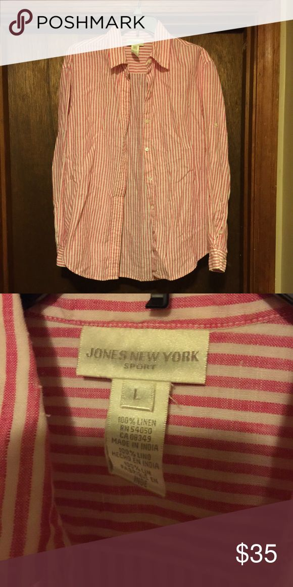 Jones nwe york button down Jones New York button down top long sleeve worn once great shape Jones New York Tops Button Down Shirts