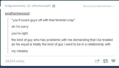 Hahahahahaha. I am not that snappy when it comes to it. But yeah. Respect is what I find attractive. :3