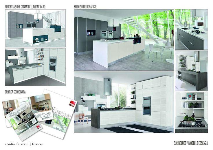 Essenza - Modern Kitchen - Cucine Lube From sketch to Catalogue     Studio Ferriani