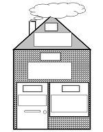 Stempelblad huis