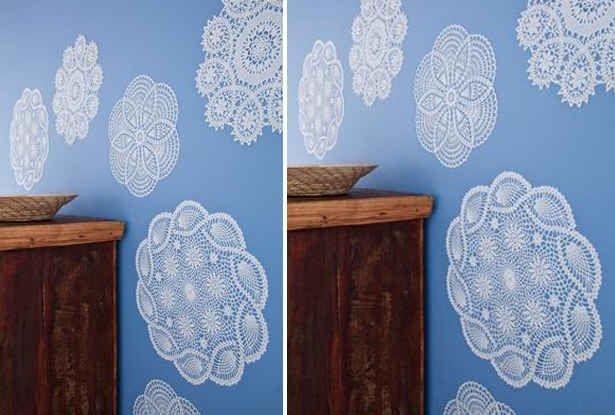 Parede de renda. | 30 formas incríveis de decorar suas paredes sem gastar quase nada