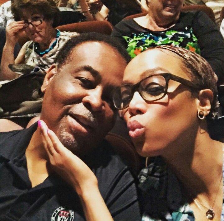 Tyra Banks And Her Dad