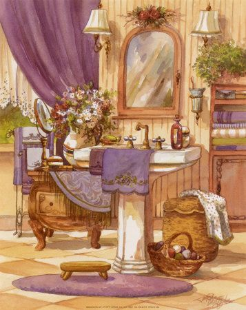 1542 best images about laminas decupas on pinterest for Victorian era bathroom designs