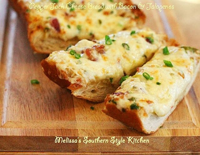 Melissa's Southern Style Kitchen: Pepper Jack Cheese Bread with Bacon & Jalapenos
