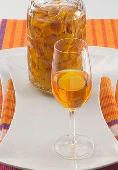 Licor de cascas de tangerina