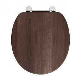 Dark Brown Toilet Seat Comfort Seats C1B1R 18CH Designer Solid