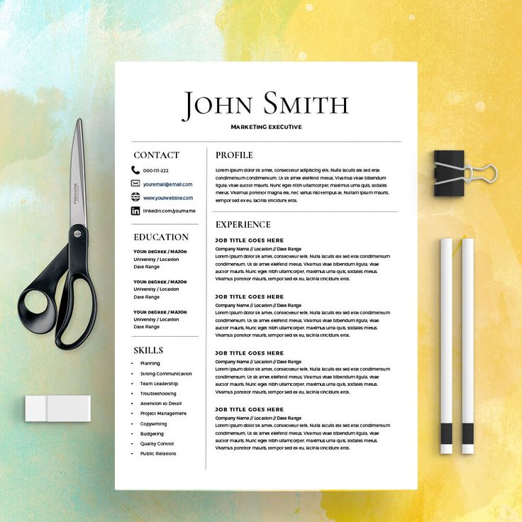 Resume Template CV Template with Cover