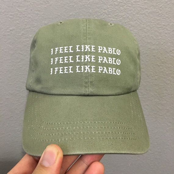 I Feel Like Pablo YEEZUS HAT  Olive Strapback by THEINNOVATED                                                                                                                                                                                 More
