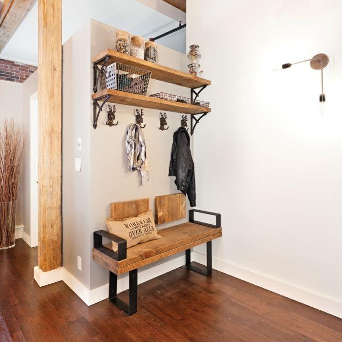 1001 ideas de recibidores originales con encanto - Recibidores originales reciclados ...