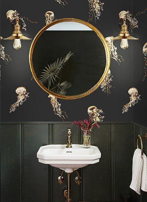 powder craft nautical bathroom mirror