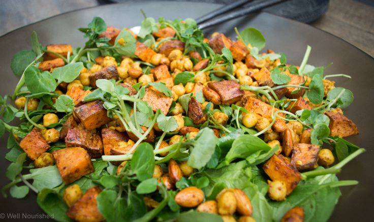 This Winter Sweet Potato Salad is a warming, delicious meal or accompaniment. It's easy to make, gluten, grain, dairy & fructose-friendly. Truly nourishing.