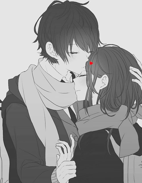 black and white anime couple | black and white, cute ...