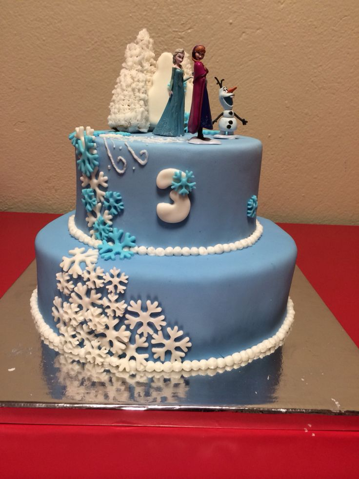 Frozen cake made for my daughter's 3rd birthday.