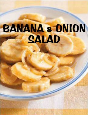 South African Recipes | BANANA AND ONION SALAD