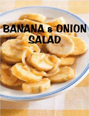 South African Recipes   BANANA AND ONION SALAD
