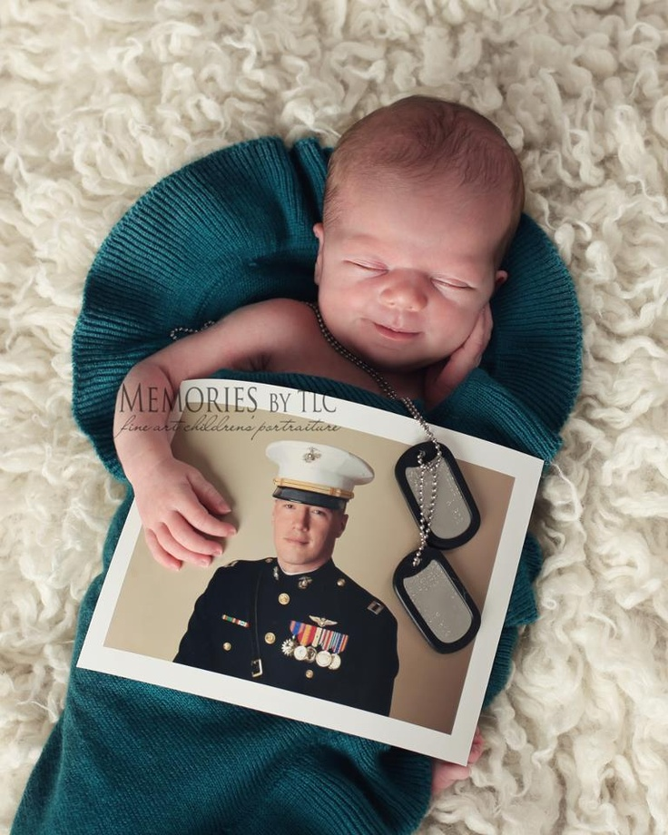 Memories by TLC photo of baby & father on deployment.
