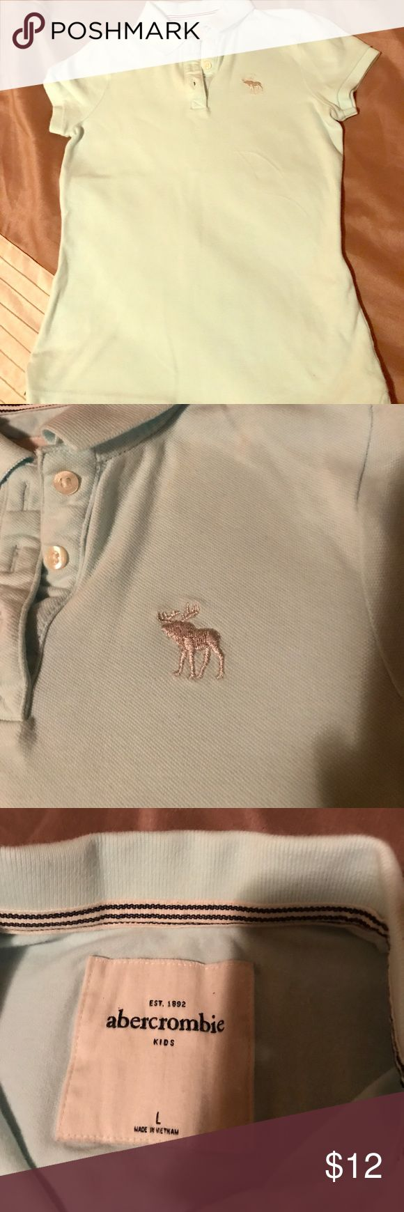 Girls like new Abercrombie polo size large I love this too my daughter wore it once no stains  no signs of wear comes from a non smoking home no pets like new abercrombie kids Shirts & Tops Polos