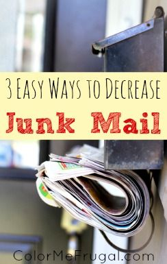 Are you sick of wasting way too much time and energy on junk mail?  I was!  Using these tips, I managed to cut our junk mail by 75% within a year.  Find out how you can do it too!