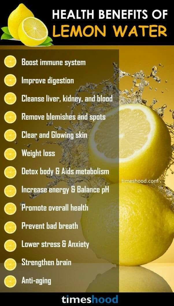 Health Benefits Of Lemon Water Thanksgiving Pinterest