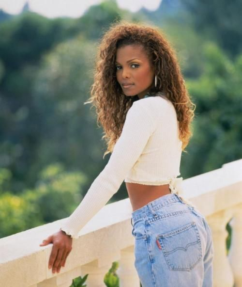 "Janet Jackson--I am going to guess this was the ""Again"" video shoot. Just stunning! #faint"