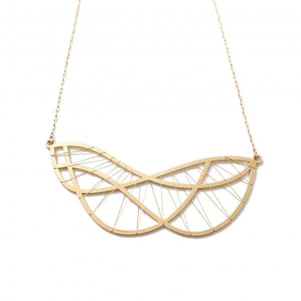 Andrea Pineros Bijoux Collier Parmentier Collection Gold