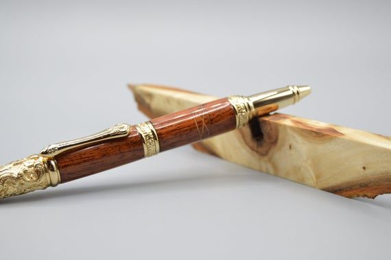Rare Burl Maple Wood Victorian Pen