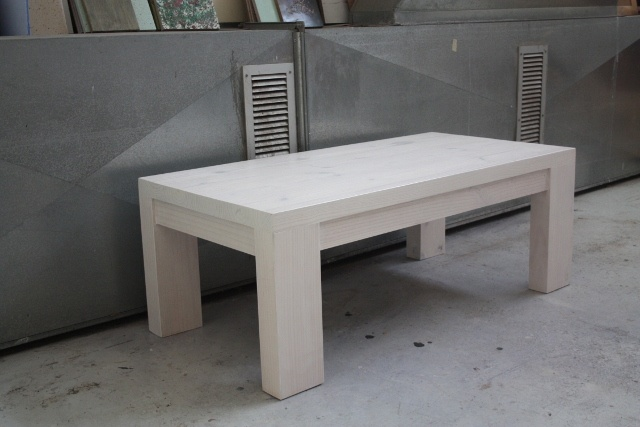 chunky white wooden coffee table from eco furniture design