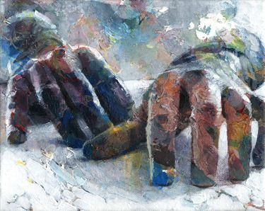 "Saatchi Online Artist David Agenjo; Painting, ""Hands-on XIII"" #art"