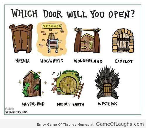Which door will you open? - Game Of Thrones Memes