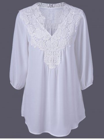 GET $50 NOW   Join RoseGal: Get YOUR $50 NOW!http://www.rosegal.com/plus-size-tops/plus-size-sweet-crochet-spliced-643145.html?seid=5864974rg643145