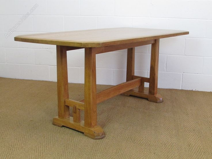 Brynmawr arts crafts oak refectory dining table antiques atlas