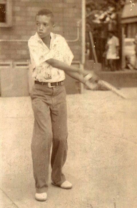 Arthur Ashe, age 11, 1955, Harlem.