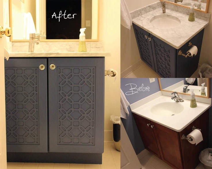 Vanity Lights Overlay Mirror : inspiration for guest bathroom vanity using Overlays custom sized Gigi panels Home: Bathrooms ...