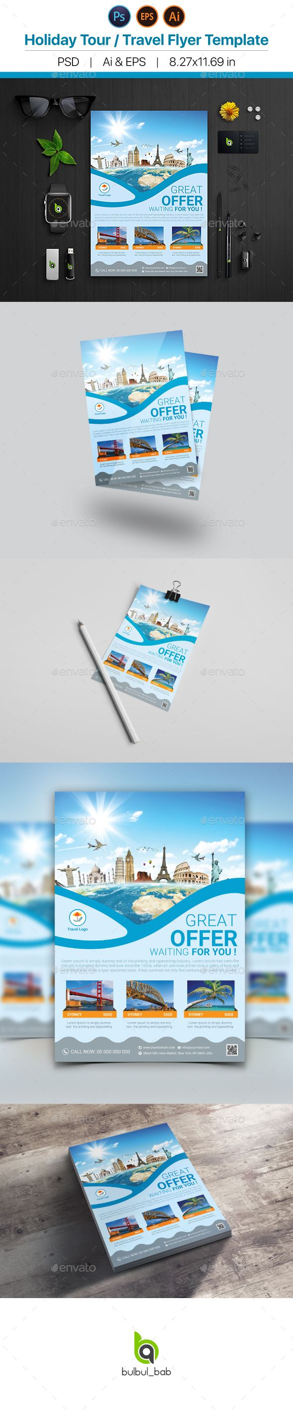 Holiday Travel Tour Flyer Template 290