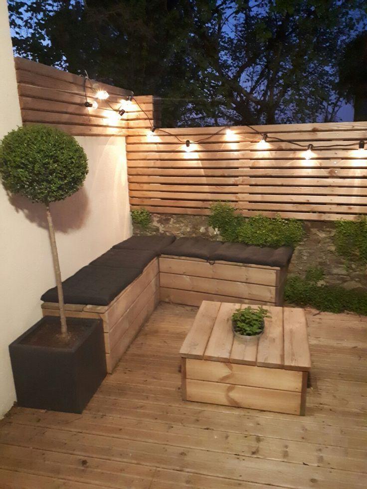 groß DIY Holzterrasse guinguette