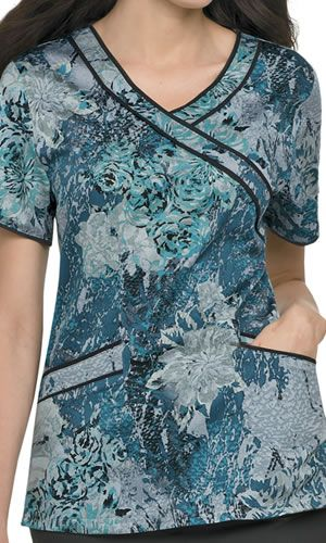 Feeling Blue? Delicate Floral Print From Landau Scrubs