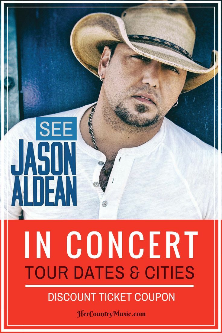 Get the latest Jason Aldean tour dates, cities, tickets and other concert news at http://HerCountryMusic.com You'll get Jason Aldean tour dates, cities, coupon code for tickets...and more.
