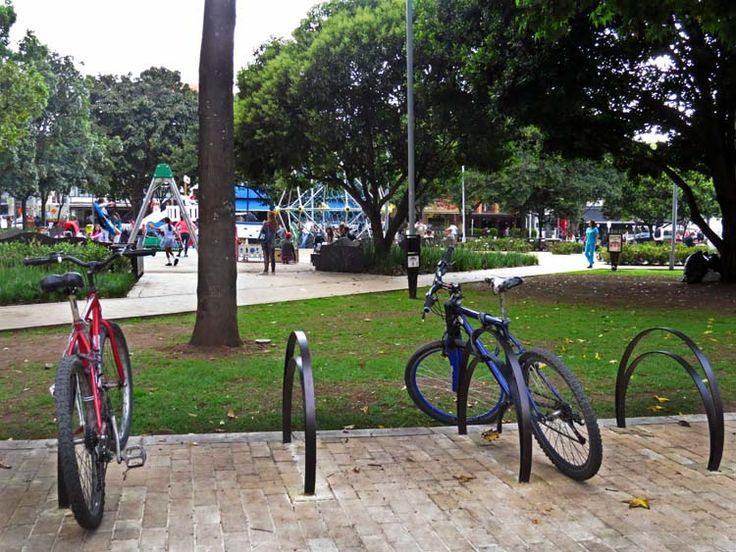 18. El Parque también tiene parqueaderos para las bicicletas.