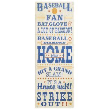 Baseball Canvas Wall Plaque | Kirkland's