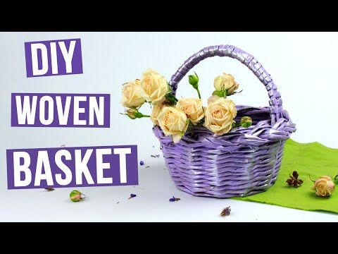 In this tutorial we'll show you how to weave a festive basket from paper tubes for a nice gift or an excellent decor element! #diybasket #wovenbasket #homedecor