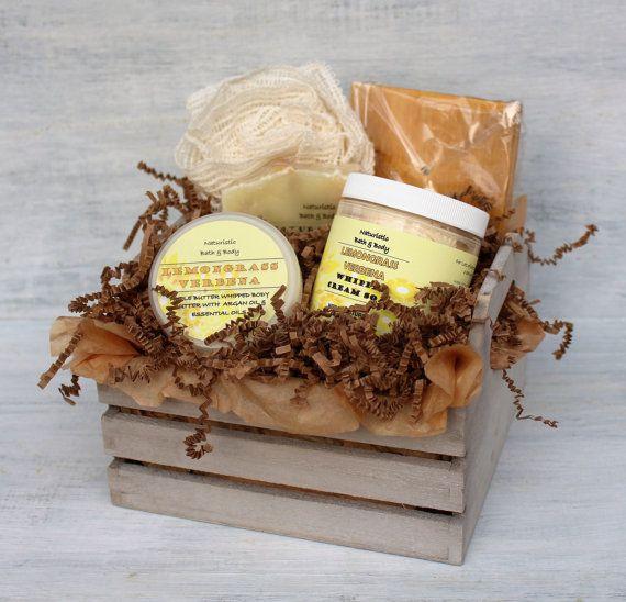 Hierba Verbena baño y cesta del regalo del cuerpo sistema del