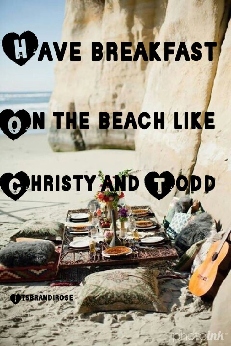Have Breakfast On The Beach Like Christy And Todd Did From The Christy  Miller Series